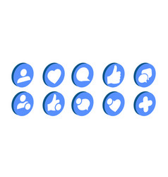 trendy social network icons set vector image
