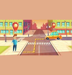 urban navigation taxi application concept vector image vector image