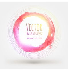 Watercolor colorful background design hand drawn vector image