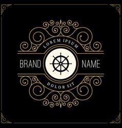 luxury logo in vintage style vector image