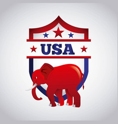 republican political party animal vector image