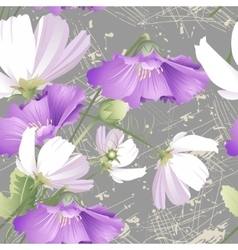 Seamless pattern of wild flowers vector image vector image