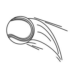 Tennis ball sport icon vector