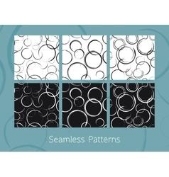 Abstract Circles Seamless Patterns Set vector image vector image