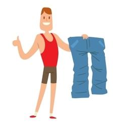 Beauty fitness man weight loss vector