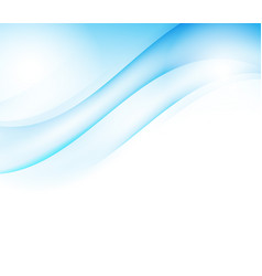 blue waves abstract background vector image vector image