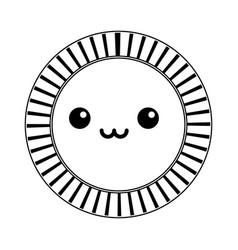 kawaii coin dollar currency money cash icon vector image