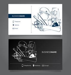 Business card surveyor vector