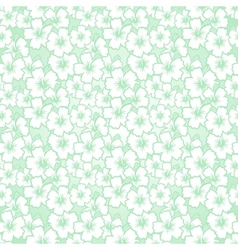 Floral seamless hibiscus pattern vector