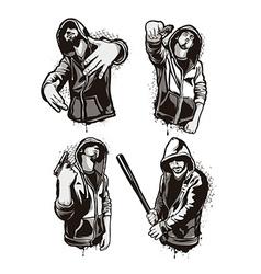 Ghetto Warriors vector image vector image