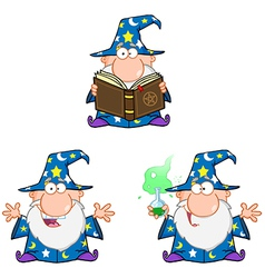 Wizard Cartoon Characters Collection vector image