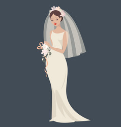 A bride in a wedding dress vector