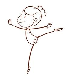 A plain sketch a gymnast vector