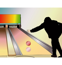 A player at the Bowling vector