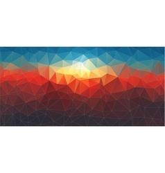 abstract composition with geometric shapes vector image
