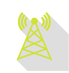antenna sign pear icon with flat vector image