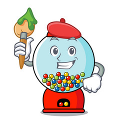 artist gumball machine character cartoon vector image