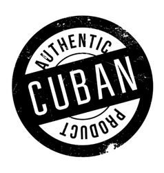 Authentic cuban product stamp vector