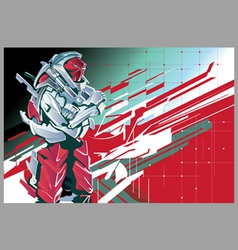 Background with the red robot vector