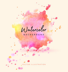 Beautiful splash watercolor in pink vector