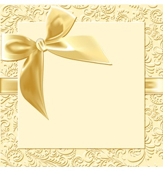 beige background bow vector image