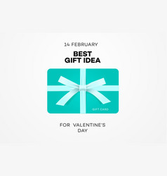 best gift idea web banner for valentines day gift vector image