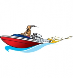 boat freak vector image