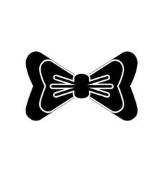 Bow accessory icon vector