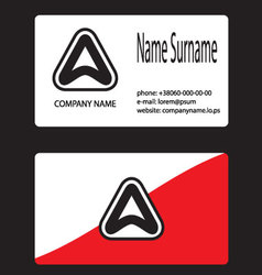 Business card logo letter a vector