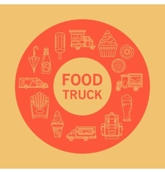 Card street food vector image