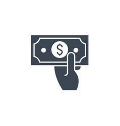cash payment related glyph icon vector image