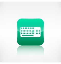 Computer keyboard web icon Application button vector image