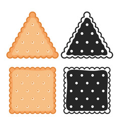 Crackers cookies elements bakery biscuits vector