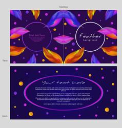 design of postcard template congratulation vector image