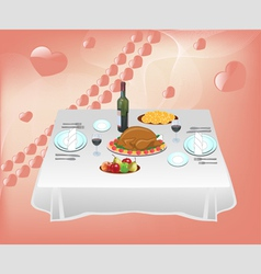 Dinner for two vector image vector image