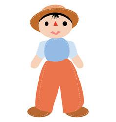 doll boy vector image