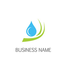 Droplet pure water eco logo vector