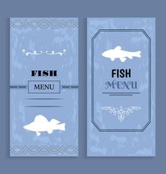 elegant vintage seafood or fish menu idea vector image