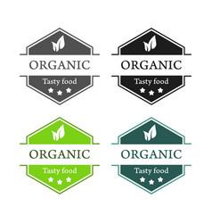 Emblems of organic tasty food vector
