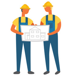 engineering and planning house building vector image
