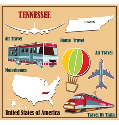 Flat map of Tennessee vector image