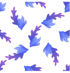 flat seamless pattern with exotic foliage on white vector image