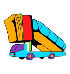 gangway plane icon icon cartoon vector image