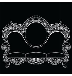 Glamorous Rich Baroque Rococo Sofa vector image