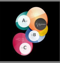 Glass circle abstract background vector