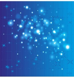 Grid bokeh blue background vector