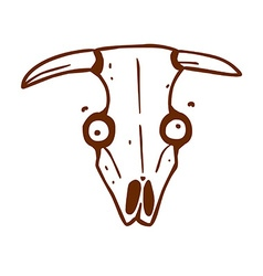 Hand Drawn Cow Skull vector image