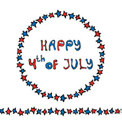 Happy usa independence day 4 th july lettering in vector