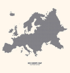 hexagonal europe map vector image