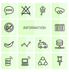 information icons vector image